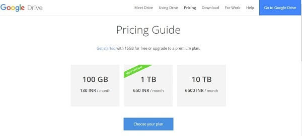 Google Drive-Alternatives to Dropbox