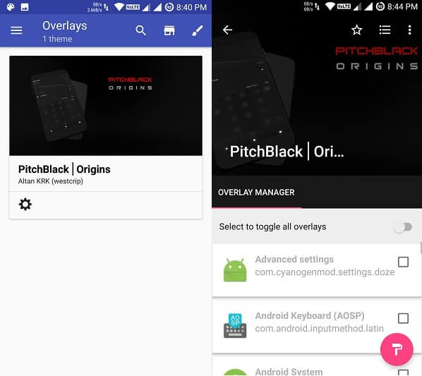 Install substratum Android theme - Open Overlays Manager
