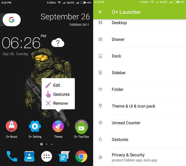 O+ Launcher - Best Android Oreo Launcher Apps