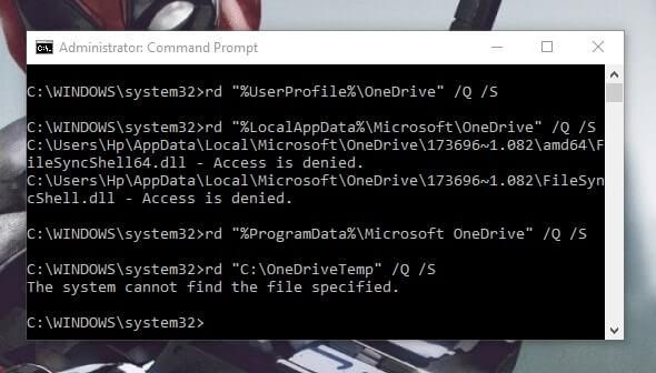Remove OneDrive Windows 10 - Delete OneDrive Folder