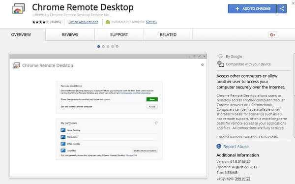 Chrome Remote Desktop - TeamViewer Alternative