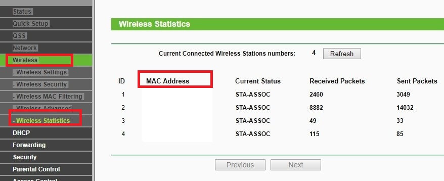 Connected devices mac address - who is connected to my WiFi