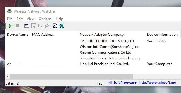 Wireless Network Wactcher - Who is connected to my WiFi