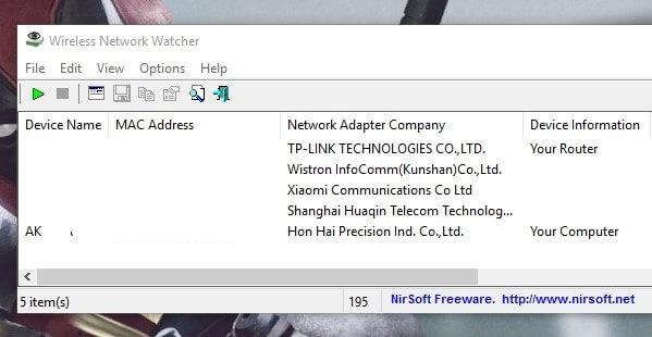 Wireless Network Wactcher
