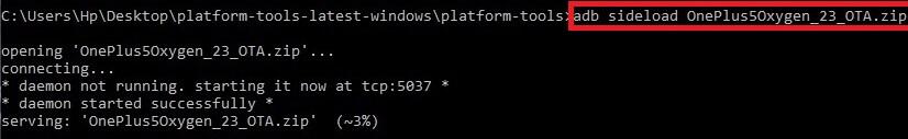 ADB sideload stock ROM flash
