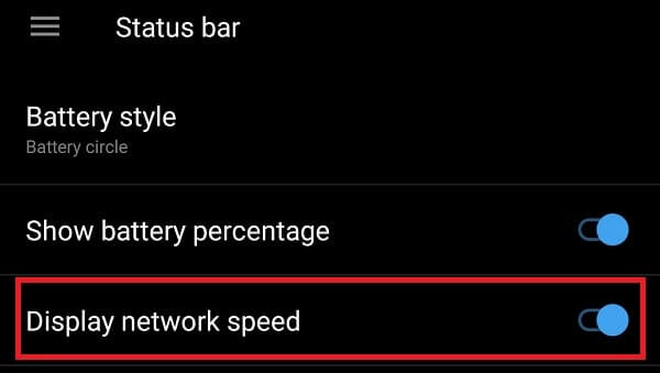 Display Network Speed - OnePlus 5 Hidden Features and Tricks