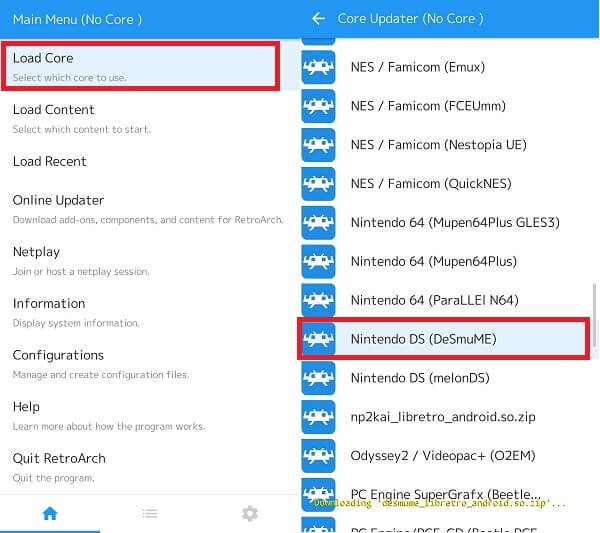 Load Core - DS Emulator Android
