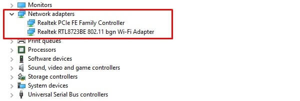 Network Adaptors - Fix Packet Loss