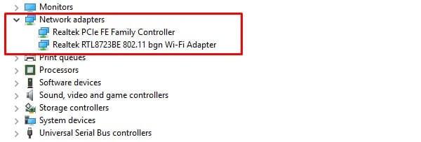 Network Adaptors - Fix Packet Loss