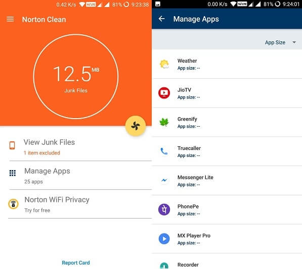 Norotn Clean Best Android Cleaner App