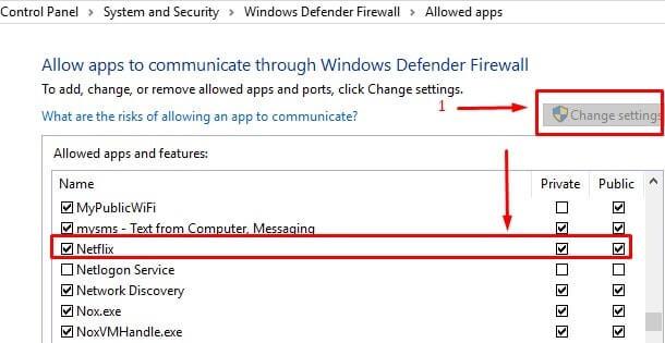 Allow App Firewall