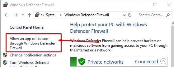 Allow an App through Firewall