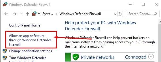 Allow an App through Firewall