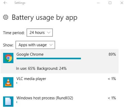 App that using much Battery - Battery Usage