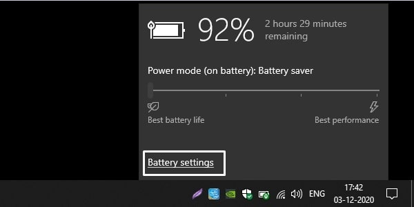 Battery Settings - Laptop Battery Draining Fast