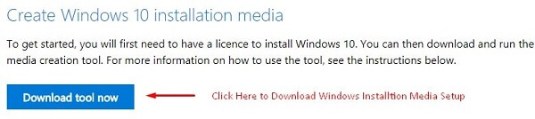 Download Installation Media Setup