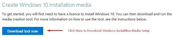 Download Installation Media Setup