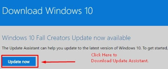 Download Windows 10 Update Assistant