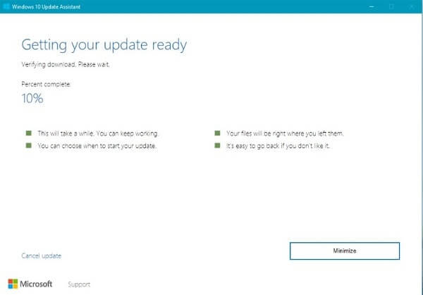 Download and Verifying Update