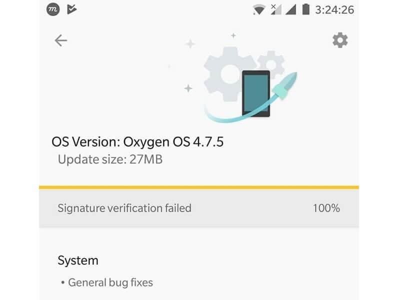 Fix Signature Verification Failed OnePlus