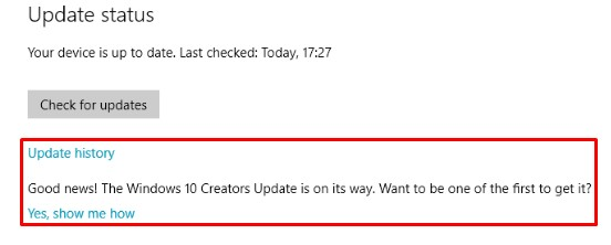 Get Windows 10 Creators Update