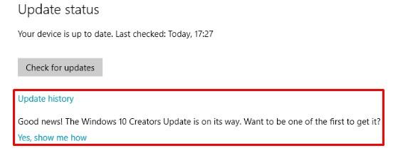 Get Windows 10 Creators Update