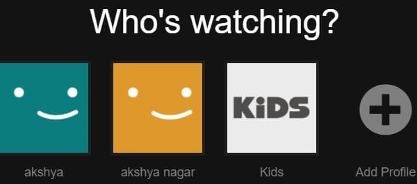 Netflix Kids Option