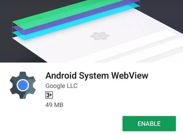 WebView Disable