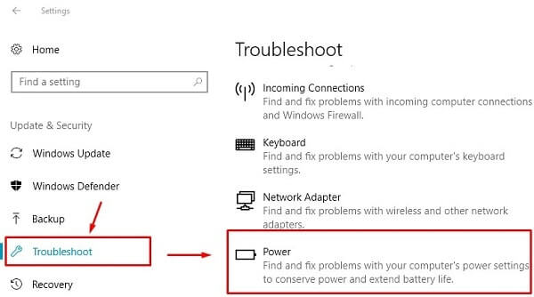 Windows Power Troubleshooter