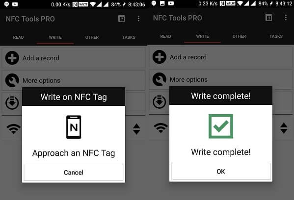 Write on NFC Tag