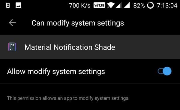modify system settings