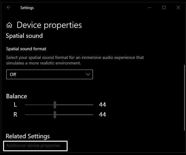Additional device properties