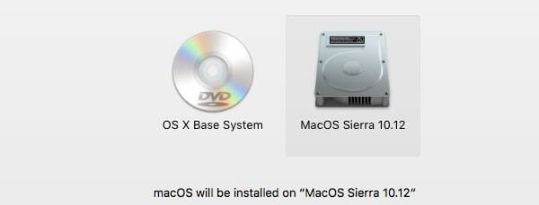 Choose Disk to Install