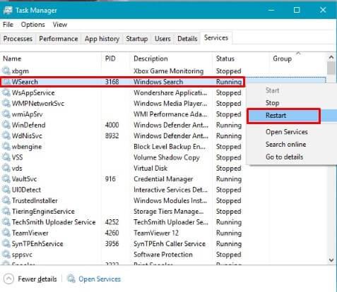 First Method - Start Windows Search Service.
