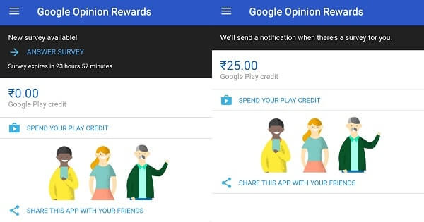 how often does google opinion rewards send surveys best apps to earn free google play credit or gift card 1509