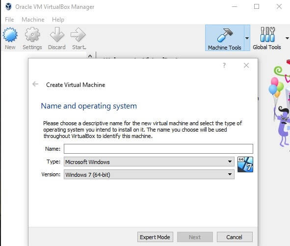 Orcale VM VirtualBox Manager