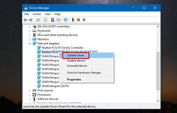 Update out-dated Network driver.
