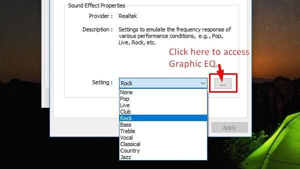 band equalizer option