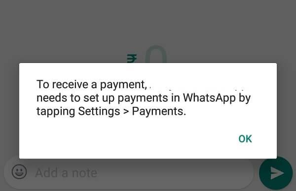 Activate WhatsApp Payments.
