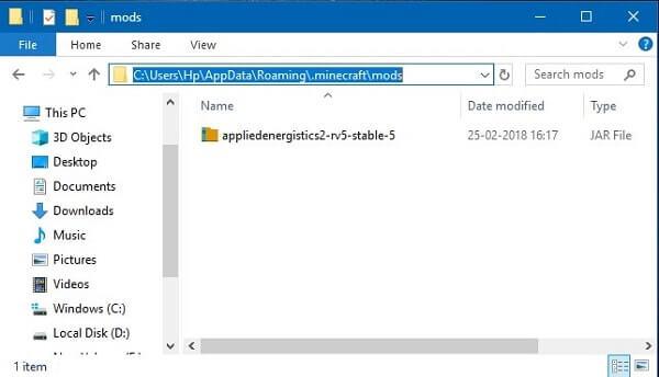Copy Mods into Mods folder
