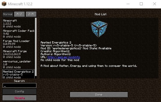 Minecraft Mod list