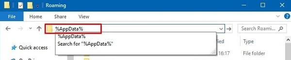 Open AppData Folder