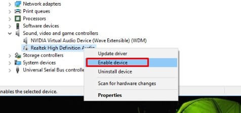 Re-enable Audio Driver