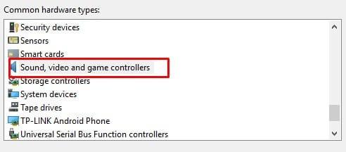 Select Hardware type