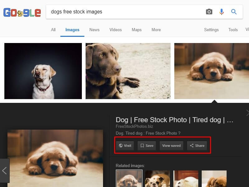 get back view Image button