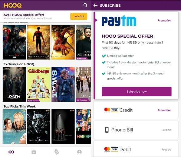 HOOQ Apps like Showbox