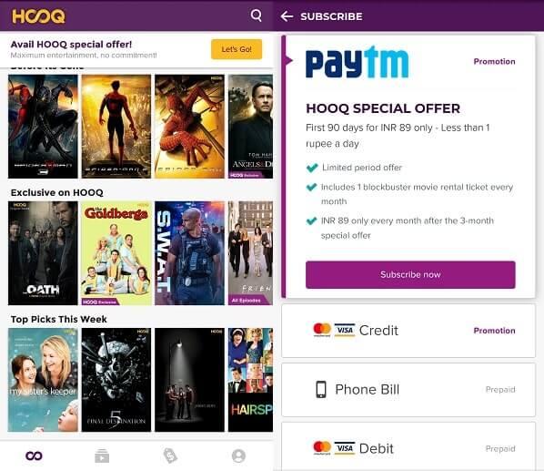 HOOQ Apps like Showbox
