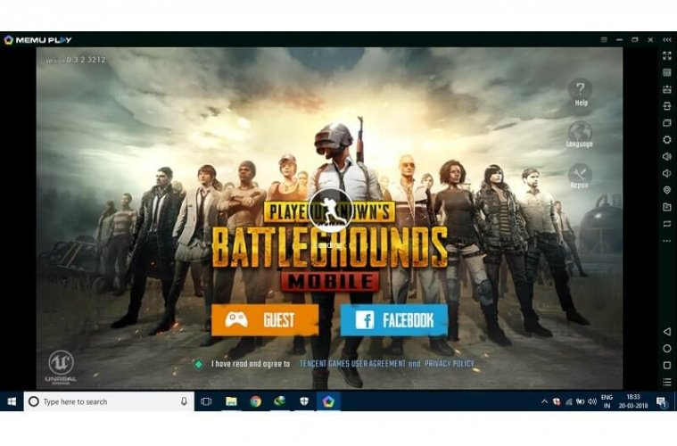 pubg emulator for 1gb ram android