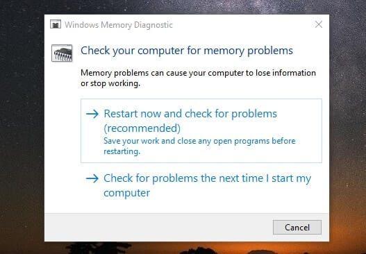 Windows Memory Diagnostic