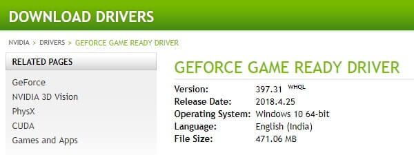 Download Latest Graphics Driver